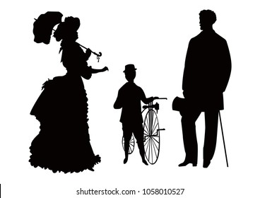 Victorian age family outing