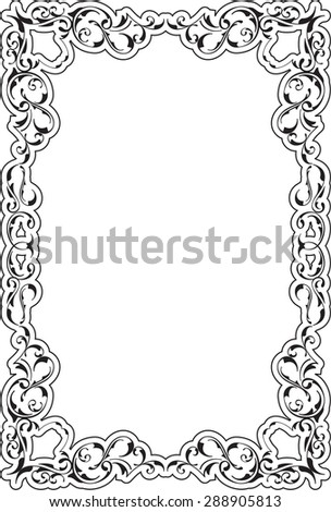 Victorian Art Ornate Scroll Frame On Stock Vector (Royalty Free ...