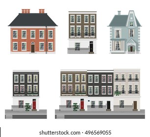 Victorian buildings set
