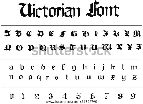 Victorian Font Vintage Font Isolated On Stock Vector