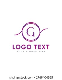 A Victorian letter type G logo template, Vector logo for business and company identity