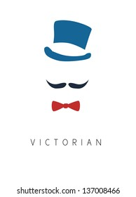 Victorian Man vintage vector