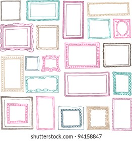 Victorian ornaments photo frames in vector