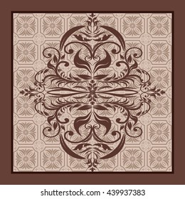 Victorian pattern. Endless pattern can be used for ceramic tile, wallpaper, linoleum, web page background