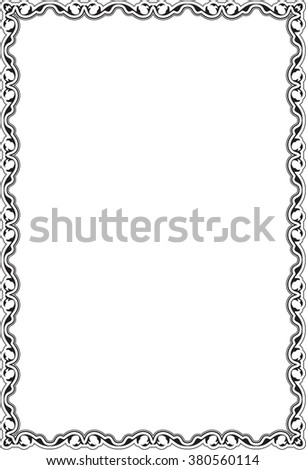 Victorian Retro Nice Frame Isolated On Stock Vector (Royalty Free ...