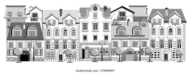 Victorian street (black)