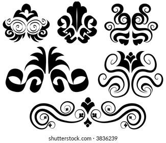 victorian vector ornamental design elements