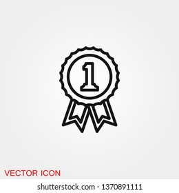 Victory icon vector sign symbol for design