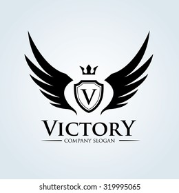 Victory logo template.
