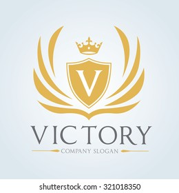 Victory Luxury Crest logo template