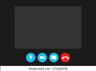 Video call screen template online video