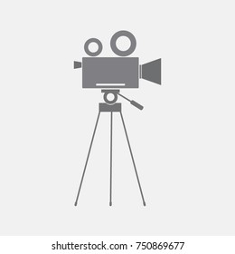 Video camera , cinema camera icon, vector