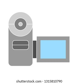 video camera. flat Vector icon - illustration of video camera icon isolated on white