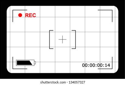 Video camera focusing screen