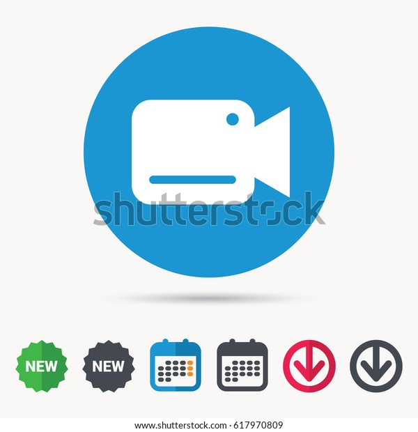 Video Camera Icon Film Recording Cam Stock Vector (Royalty