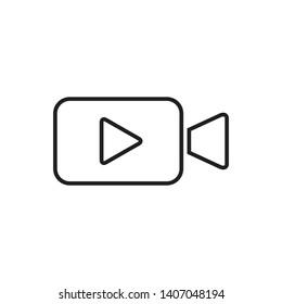 video camera icon logo design template
