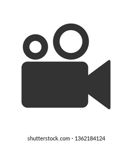 Video camera icon, Movie, film, picture sign isolated on white background .