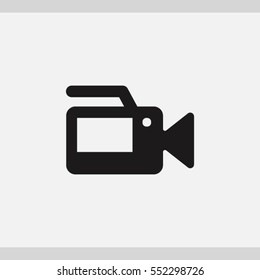 video camera  icon. One of set web icons