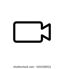 Video camera icon, vector illustration