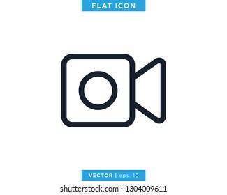 Video Camera Icon Vector Logo Design Template. Camcorder Symbol