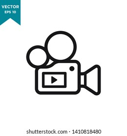 video camera icon vector logo template
