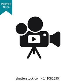 video camera icon vector logo template