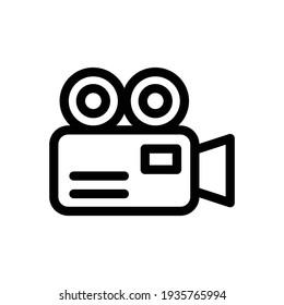 video camera icon vector, camera icon. video camera symbol. movie sign vector, Video recorder icon vector in outline style isolated, outline style