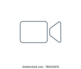 Video camera line vector icon, social media video icon, live stream icon, video icon, video icons, whatsapp call