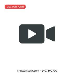 Video Camera Play Icon Vector Illustration Design