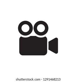 Video Camera Vector Icon. Cinema camera icon. Movie Camera icon in trendy flat style - Vector.