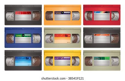 Video cassette tape vector illustration