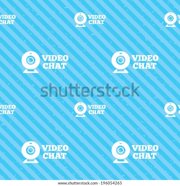 Video Chat Sign Icon Webcam Video Stock Vector Royalty Free 196054265