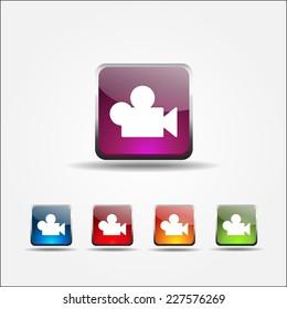 Video Colorful Vector Icon Design