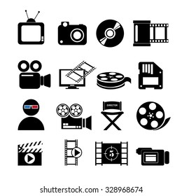 Video concept with  movie icons design, vector illustration 10 eps graphic., Vector design