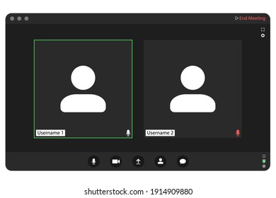 Video conferencing user interface. Video conference icon. Digital communication. Online chat for business seminars. Video conferencing user interface, great design for any purpose.