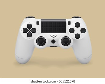 Video console gamepad vector illustration