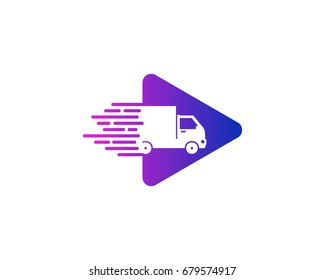 Video Delivery Icon Logo Design Element