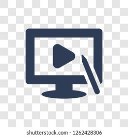 Video editing icon. Trendy Video editing logo concept on transparent background from Entertainment and Arcade collection