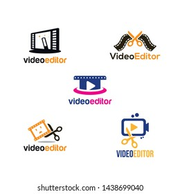 Video Editor Logo Design for Icon and Symbol Vector Template
