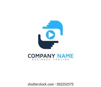 Video Frame Logo Design Template
