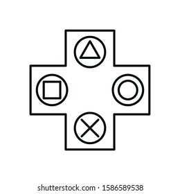 video game arrows button control vector illustration design