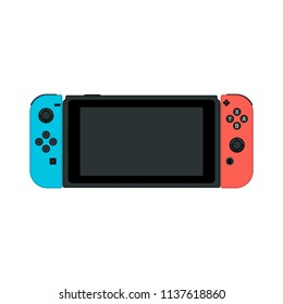 Video game console. gamepad vector illustration.