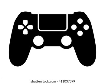 Video game controller / gamepad flat vector icon for gaming apps and websites