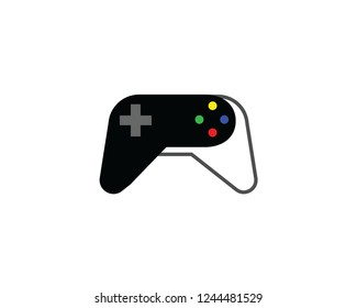 Video game controller icon. Flat illustration of video game controller vector icon for web