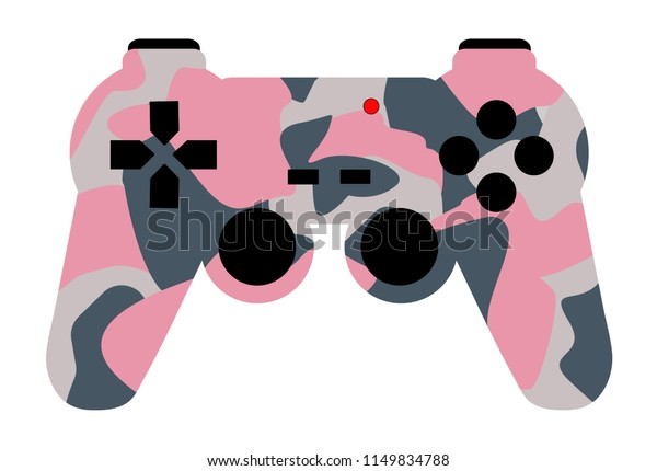 Video Game Controller Pink Military Colors Stock ...