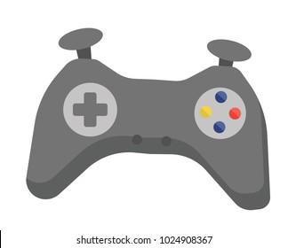 Video game controller vector cartoon illustration isolated on white background.