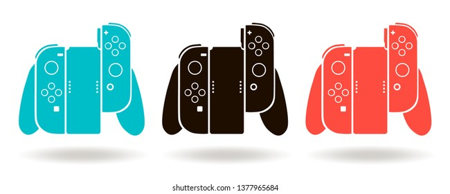 Video game controller. Vector gamepad, console icon