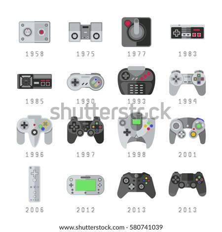 Video Game Controls Joystick Gamepads Gaming Stock Vektorgrafik