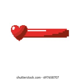 video game heart life bar