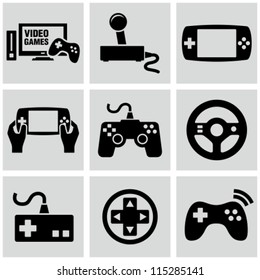 Video game icons set